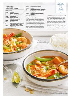 Thai Red Curry Soup, Curry Shrimp, Sugar Snap Peas, Roasted Peanuts, Lime Wedge, Lime Juice, Stuffed Peppers, Ethnic Recipes, Food