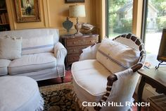 AFTER - French Linen Slipcovers - Cedar Hill Farmhouse