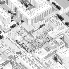 Image 2 of 24 from gallery of World Architecture Festival Announces Winners of the 2018 Drawing Prize. The Samsara of Building / Li Han. Image Courtesy of World Architecture Festival Architecture Graphics, Architecture Drawings, Landscape Architecture, Architecture Design, Axonometric Drawing, Isometric Drawing, Isometric Map, Landscape Sketch, Urban Landscape