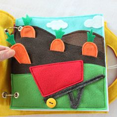 Bushels of Fun custom quiet book page- a single page to add to your hand-made personalized book! Have fun counting your carrots while putting them in the wheelbarrow! Cultivates your childs imagination all while learning about where our food comes from. Quiet Books are a great way to keep your little ones occupied and learning during church, doctors appointments, traveling, or anywhere you need to keep your children quietly entertained! Unique and thoughtful gift idea! Expand and change…