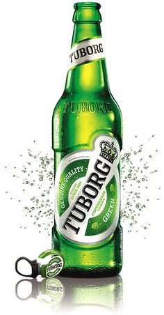 Tuborg beer...... my dad used to drink this,