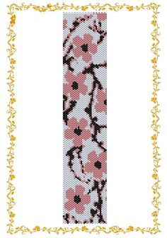 "Peyote beading pattern Bracelet ""Sakura"".  Instant Download. Pattern PDF."