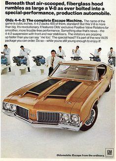 Oldsmobile Olds 442 445 - Hot Rod Advertisement January 1970