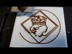 3D Chocolate Printer Creating Diamond Jubilee Image Profile
