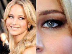 Jennifer Lawrences extremely hooded eyes.