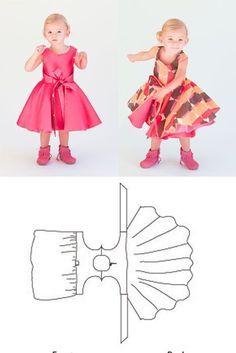 Style : Robe d'été - 18 mois à 8 ans. Patron à acheter ou à reconstituer