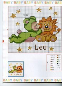 Schema punto croce Baby Oroscopo 7