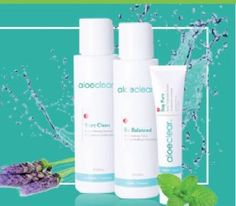 Clear Skin Revolution with our 3pc Aloeclear Collection!  Start Clean, Be Balanced and Stay Pure!