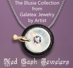 This whimsical Birdbath pendant in 14 karat gold and sterling silver from Galatea's Illusia collection is now at Ned Cash Jewelers