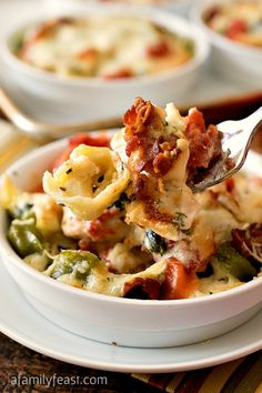 Baked Tortellini with Chicken Gratinati - Inspired by the dish at Bertucci's, we think our version tastes even better!