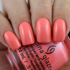 China Glaze Tropic Of Conversation swatched by Olivia Jade Nails Jade Nails, Neon Nails, Olivia Jade, Talk To The Hand, Girly Things, Girly Stuff, Simple Girl, China Glaze, Mani Pedi