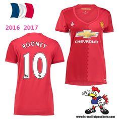 Vente Nouveau Maillot Football Manchester United Femme (ROONEY 10) Domicile…