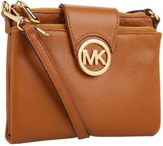 Tobacco Leather Crossbody Bag by MICHAEL Michael Kors. Buy for $188 from Zappos