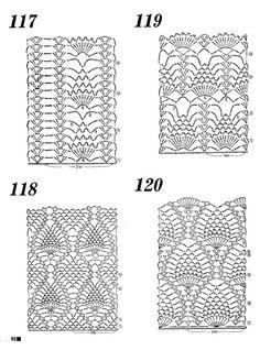 Las esquemas de crochet - Piñas.  [gallery link=file order=DESC columns=4...