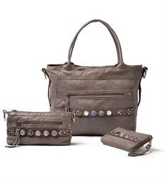 NEW!! Noosa Amsterdam Bag collection: Bag Classic Shopper, Bag Classic Citybag and Bag Classic Wallet in Midbrown or Grey - NummerZestien.eu