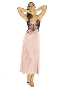 Gilda Voulez-vous Long Gown in Copper from NK iMODE Satin Nightie 43e8853fa