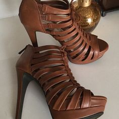 d37653ddb6523 JESSICA SIMPSON CARMEL COLOR HEELS! These shoes are really hot. They are  high