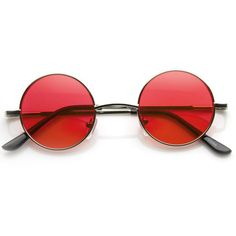 Small Lennon Vintage Inspired Round Circle Color Lens Metal Sunglasses... ($9.99) ❤ liked on Polyvore