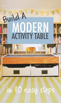 How to Build a Modern Train / Activity Table in 10 Easy Steps