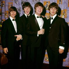 The Beatles, (from left to right) Ringo Starr, Paul McCartney, John Lennon and George Harrison at the premiere of their film A Hard Day's Night
