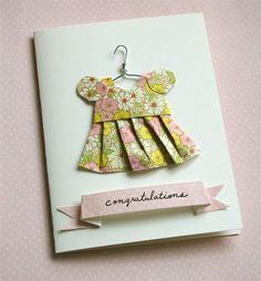 how cute & adorable is this?!?! Card club members....I am going to try to make this for the baby girl card!!!