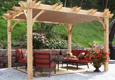 Outdoor Living Today - 10 x 10 Breeze Pergola with Retractable Canopy - Default Title - Outdoor Living  - Yard Outlet