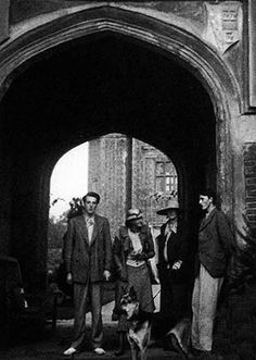 Vita Sackville-West and her sons Ben and Nigel with Virginia Woolf at Sissinghurst Castle in 1932
