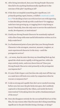 Ask yourself these questions about your strong female character.