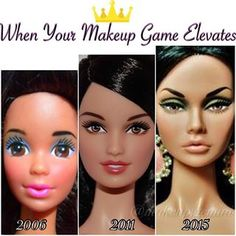 When you look back at old pictures of yourself and marvel at your progress. | 21 Photos That Are Way Too Real For Makeup Addicts
