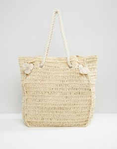 The South Beach Paper Straw Shopper Bag With Rope Handle is what vacation looks are made of - get even more style and shopping inspiration on http://jojotastic.com/shop-my-favorites/