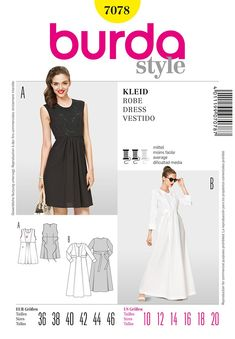 Purchase Burda 7078 Misses Dress and read its pattern reviews. Find other Dresses, sewing patterns.