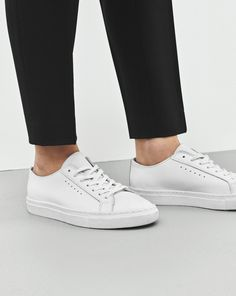Filippa K | For contrast and edge, wear masculine flats with cropped trousers.