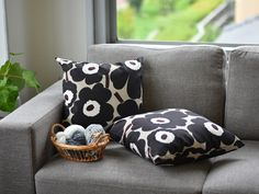Marimekko, Thing 1, Pillow Talk, Villa, Throw Pillows, Summer, Black, Design, Curtains