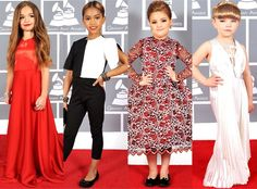Kids In Celebrity Grammy Like Dresses Outfits Dress Up S Rules