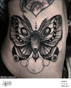 Kelly Violence Tattoo - Moth for Alix