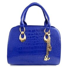 Gorgeous Alligator Print and Metal Pendant Design Tote Bag For Women Cheap Tote Bags, Womens Tote Bags, Cheap Handbags Online, Online Bags, Navy Blue Handbags, Pendant Design, Beautiful Bags, Fashion Bags, Style Fashion