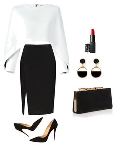 Informal , nayo. #2 by seyiola on Polyvore featuring polyvore, fashion, style, Balmain, Christian Louboutin, Jimmy Choo, Warehouse, NARS Cosmetics and clothing