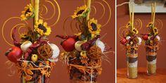 Jesienne kompozycje ze slonecznikami. www.kaja.lebork.pl  #fall #centerpiece #arrangement #sunflowers