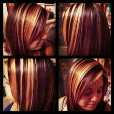 Rebel's bold highlights by Tajia Oliva at Skye Salon and Spa
