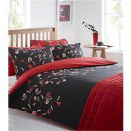 Izmir Reversible Quilt Cover - Black/Red