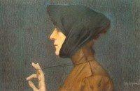 Woman with a Medallion (Mystery), Lucien Lévy Dhurmer