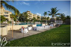 Beautiful day for a wedding at Grace Bay Club. Photographer Brilliant Studios