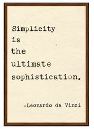 Everyone, I just got some amazing brand name purses,shoes,jewellery and a nice dress from here for CHEAP! If you buy, enter code:atPinterest to save http://www.superspringsales.com -   Leonardo da Vinci on simplicity