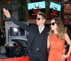 Robert and Susan Downey arrive at the Iron Man 3 premiere in Hollywood, 2013.