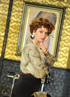 Anna Chancellor plays Amanda in the Gielgud Theatre production of Private Lives. Photo from original Chichester production, by Alistair Muir.