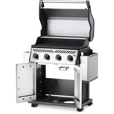 NAPOLEON Rogue XT Stainless Steel 4-Burner Natural Gas Grill with Integrated Smoker Box in the Gas Grills department at Lowes.com Gas Bbq, Bbq Grill, Barbecue, Stainless Steel Tubing, Ignition System, Cast Iron Cooking, Sub Brands, Small Patio, Grills