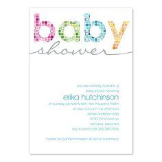 Mosaic - Baby Shower Invitation