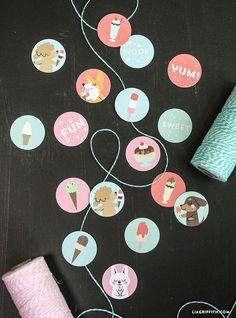 Ice Cream Sticker Sheets - Lia Griffith