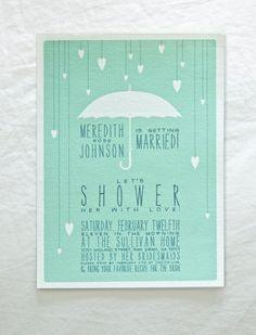 Bridal Shower Invites with Raindrops