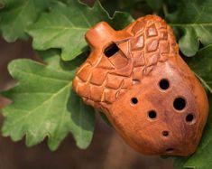 Ocarina ''Acorn'' G major  ceramic